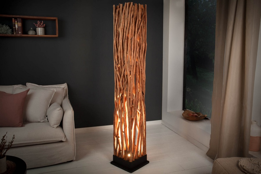 Drevená stojanová lampa - Estilofina
