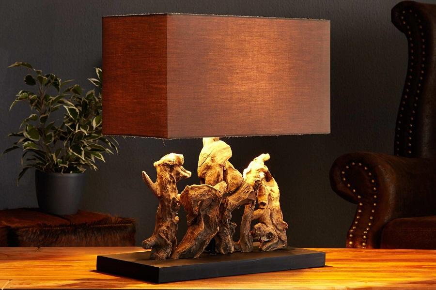 Drevená stolná lampa - Estilofina